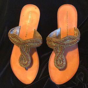 Size 6.5 Chinese Laundry beaded sandal